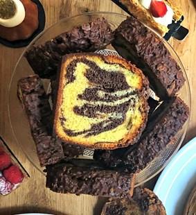 Image de Part de Cake Marbré Vanille & Chocolat